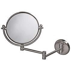 Gatco 19 1 2 Wide Nickel Swing Arm Wall Mirror