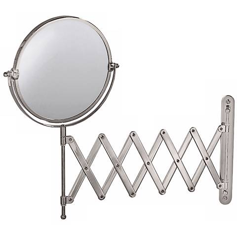 "Gatco Nickel 26 1/2"" Wide Accordion Wall Mirror"