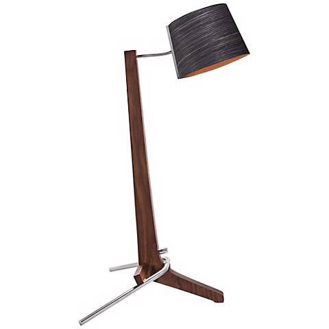 Cerno Silva Oiled Walnut and Ebony LED Table Lamp