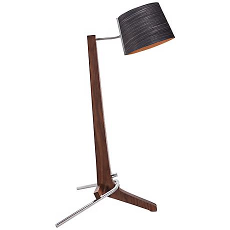 Cerno Silva Oiled Walnut and Ebony LED Table Lamp