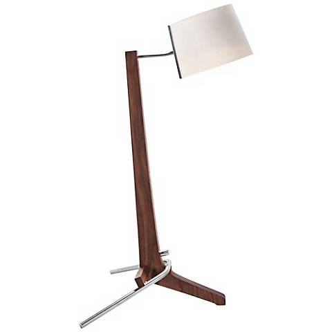 Cerno Silva Oiled Walnut and White LED Table Lamp