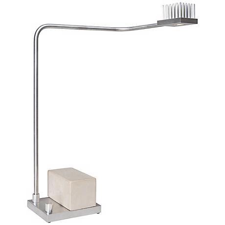 Cerno Onus Aluminum and Natural Concrete LED Desk Lamp