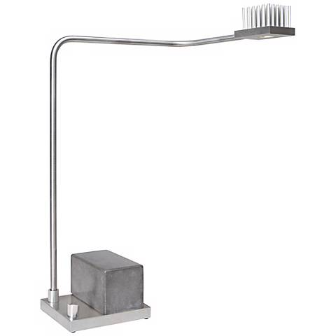 Cerno Onus Aluminum and Grey Black Concrete LED Desk Lamp