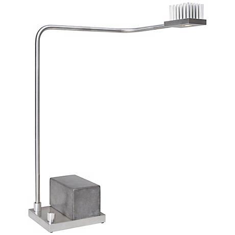 Cerno Onus Aluminum and Grey Black Concrete LED Desk Lamp