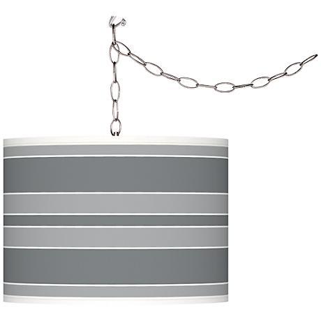 Software Bold Stripe Giclee Glow Plug-In Swag Pendant