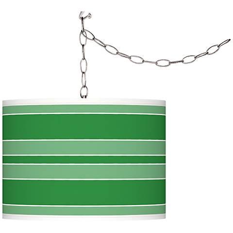 Envy Bold Stripe Giclee Glow Plug-In Swag Pendant