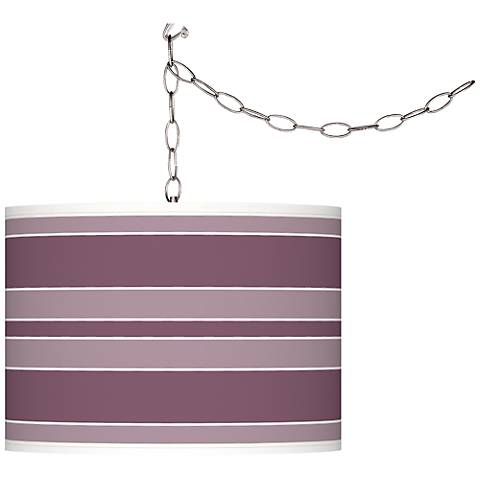 Grape Harvest Bold Stripe Plug-In Swag Pendant