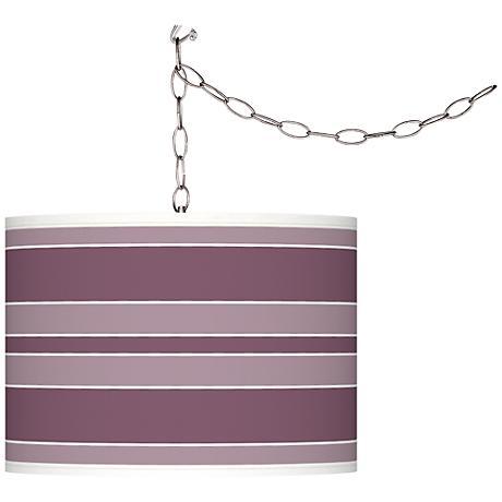Grape Harvest Bold Stripe Plug-In Swag Pendant