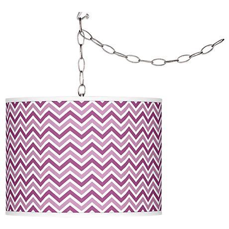 Verve Violet Narrow Zig Zag Plug-In Swag Pendant