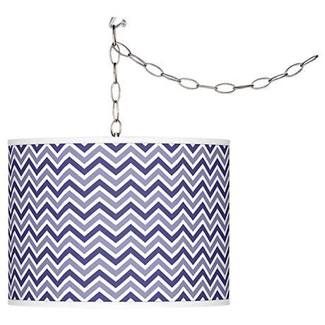 Valiant Violet Narrow Zig Zag Plug-In Swag Pendant