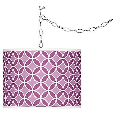 Verve Violet Circle Rings Plug-In Swag Pendant