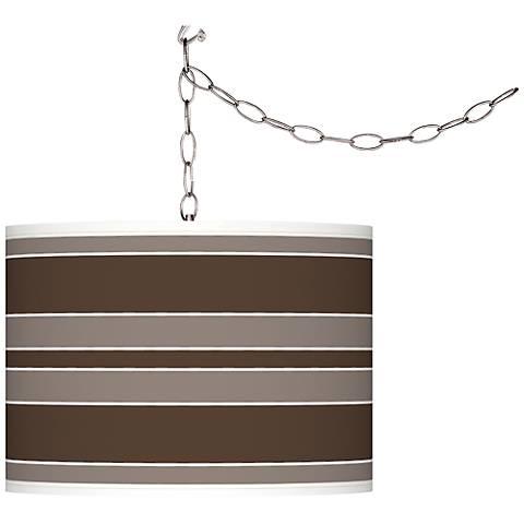 Carafe Bold Stripe Giclee Glow Plug-In Swag Pendant
