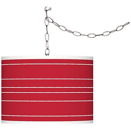 Samba Bold Stripe Giclee Glow Plug-In Swag Pendant