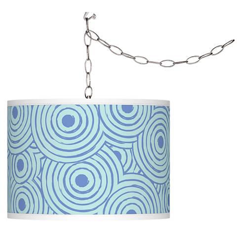 Circle Daze Giclee Glow Plug-In Swag Pendant