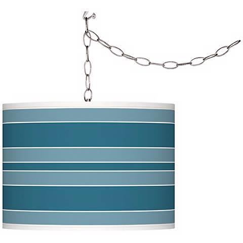 Great Falls Bold Stripe Giclee Glow Plug-In Swag Pendant