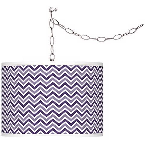 Izmir Purple Narrow Zig Zag Giclee Glow Plug-In Swag