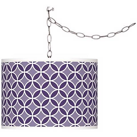 Izmir Purple Circle Rings Giclee Glow Plug-In Swag