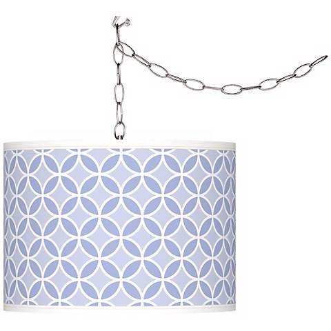 Lilac Circle Rings Giclee Glow Plug-In Swag Pendant