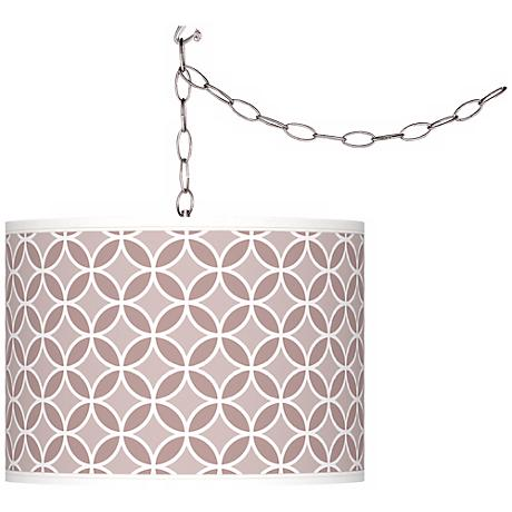 Dressy Rose Circle Rings Giclee Glow Plug-In Swag Pendant