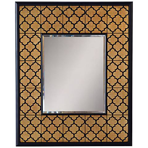 "Port 68 Parker 37"" High Gold Leaf Wall Mirror"