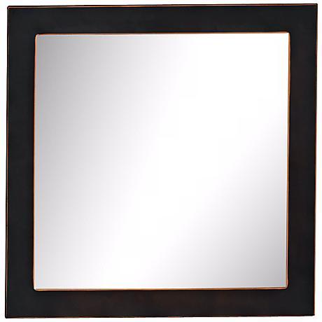 """Port 68 Drake 19"""" Square Bronze Wall Mirror"""