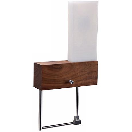 """Cerno Cubo Right-Hand Plug-In 9"""" Wide LED Wall Sconce"""