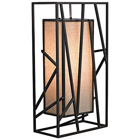 """LBL Derby 14 1/2"""" Rectilinear Metal Wall Sconce"""