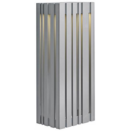 """LBL Uptown 17 3/4"""" Silver LED Outdoor Wall Light"""