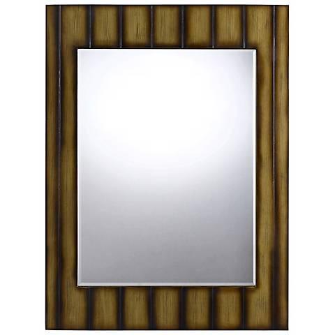 "Clovis 48"" High Striped Rectangular Wall Mirror"