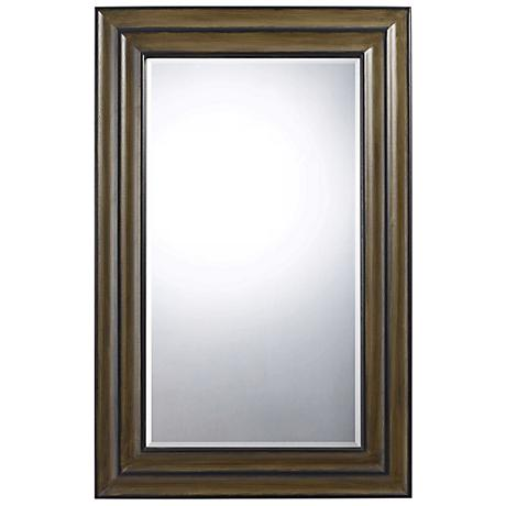 "Channing 48"" High Walnut Rectangular Wall Mirror"