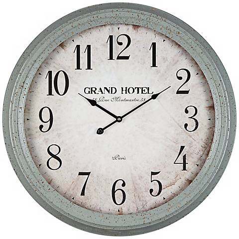"Cooper Classics Asher 24 1/2"" Wide Gray Wall Clock"