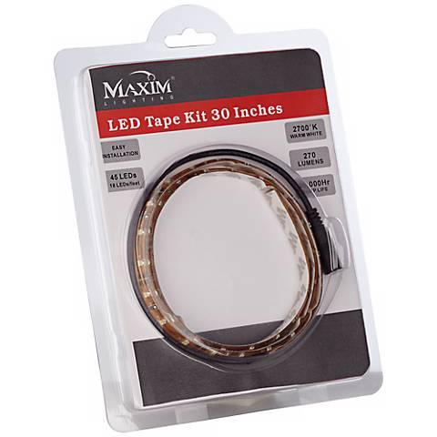 maxim lighting 30 led tape light kit x7051 lamps plus. Black Bedroom Furniture Sets. Home Design Ideas