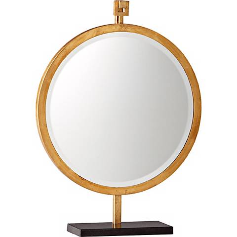 "Westwood 24 1/4"" High Gold Stand Mirror"