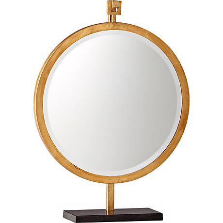 """Westwood 24 1/4"""" High Gold Stand Mirror"""