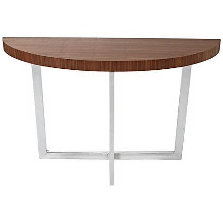 Oliver Walnut Wood Console Table