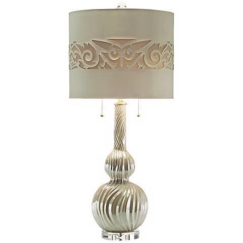 John Richard Swirled Ceramic Table Lamp