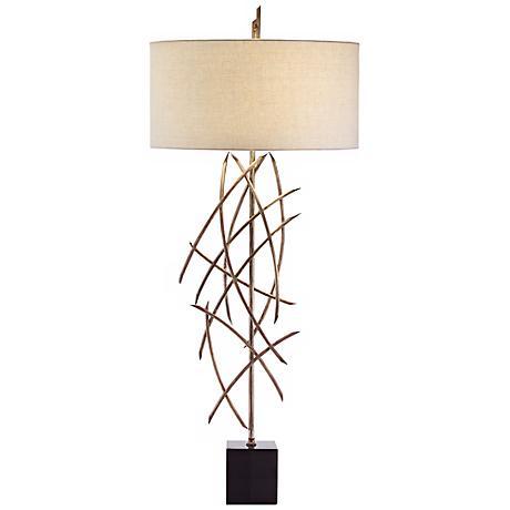John Richard Metal Stick Table Lamp