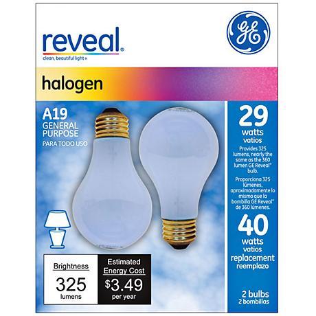29 watt s A19 2PK Halogen Reveal bulb