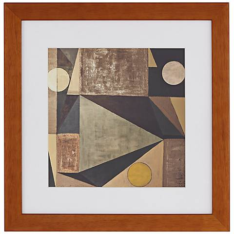 """Modern Abstract 16"""" Square Framed Wall Art"""