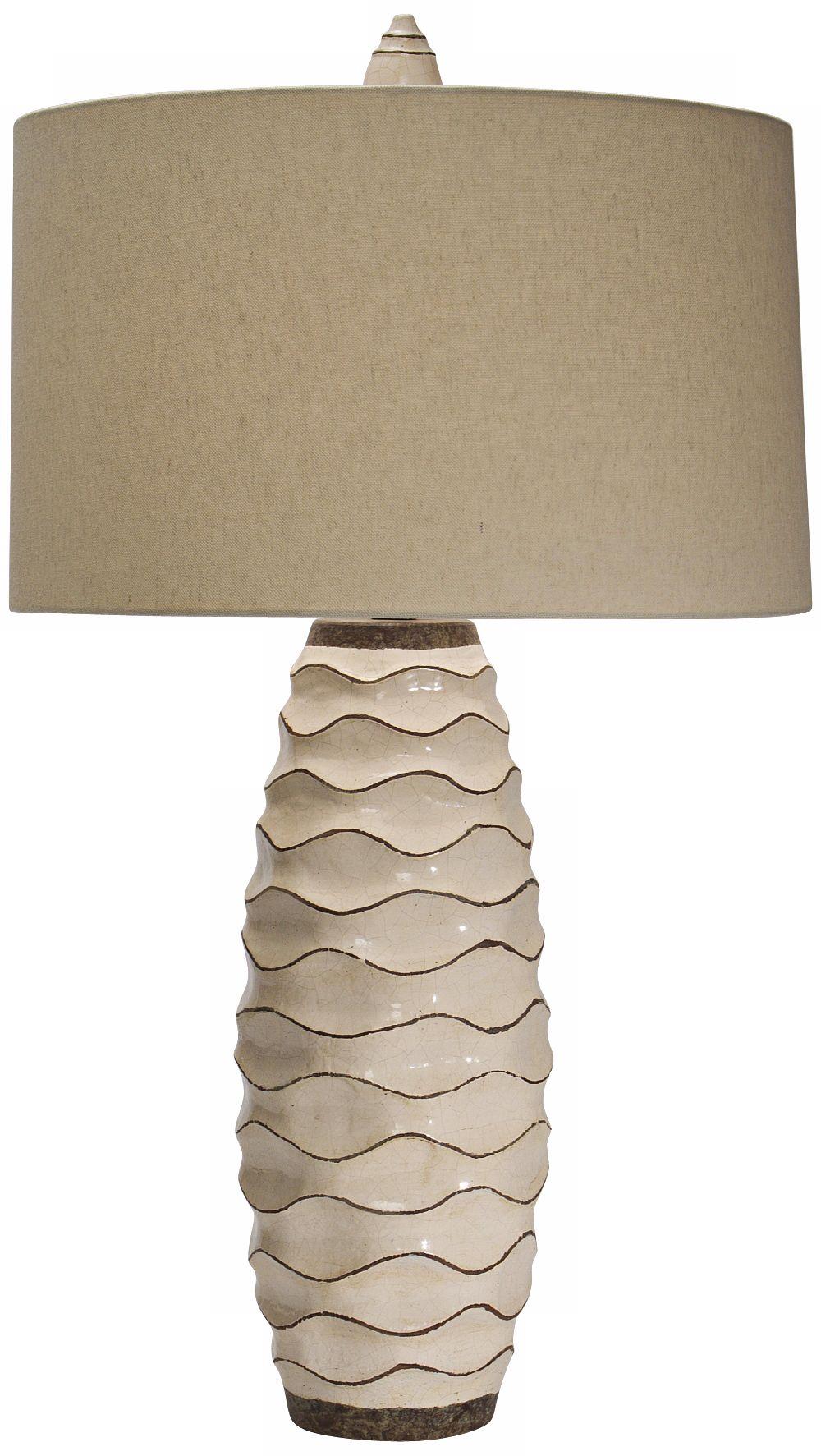 Superb Natural Light Ebbtide Pottery Table Lamp
