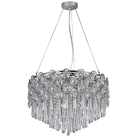 "Maxim Jewel 20-Light 22""W Crystal Pendant Light"