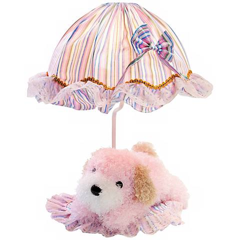 Lite Source Puppy Poof Pink Accent Lamp