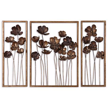 Wall Art Lamps Plus : Set of 3 Uttermost Tulips 40