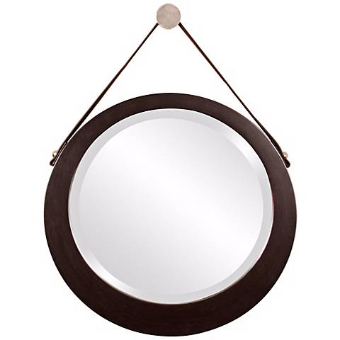 "Howard Elliott Bloom 20"" Wide Hanging Wall Mirror"