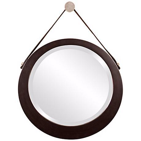 """Howard Elliott Bloom 20"""" Wide Hanging Wall Mirror"""