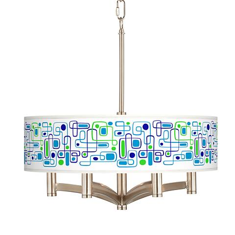 Racktrack Ava 6-Light Nickel Pendant Chandelier