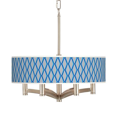Bleu Matrix Ava 6-Light Nickel Pendant Chandelier