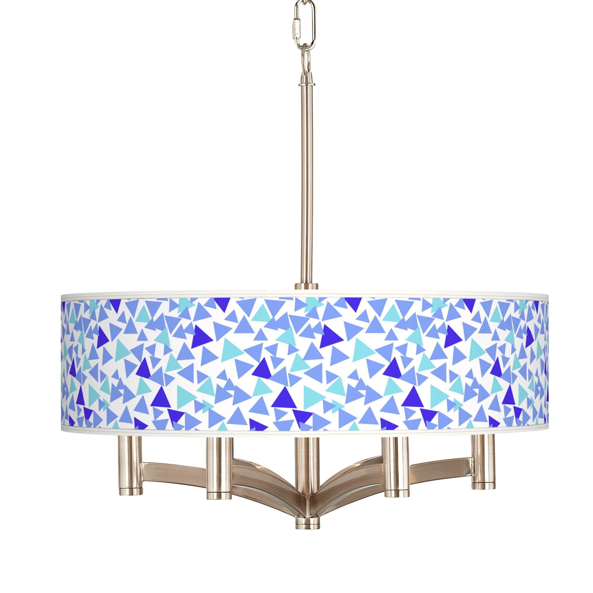 geo confetti ava 6 light nickel pendant chandelier #
