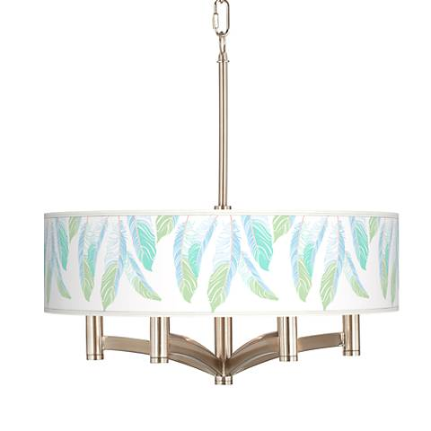 Light as a Feather Ava 6-Light Nickel Pendant Chandelier