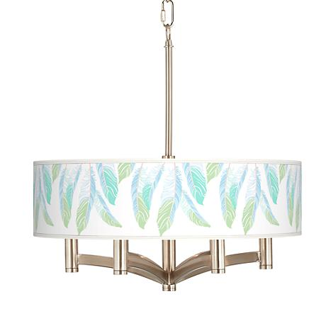 Light as a Feather Ava 6-Light Nickel Pendant Chandelier